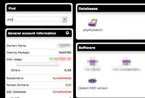 Testati due nuovi servizi di Keliweb: versioni PHP + PHP.ini configurabile