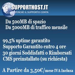 Hosting SupportHost (Recensioni servizi)