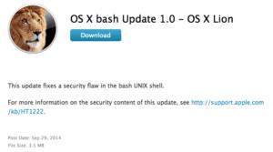 Apple pubblica l'aggiornamento per ShellShock, ecco i link
