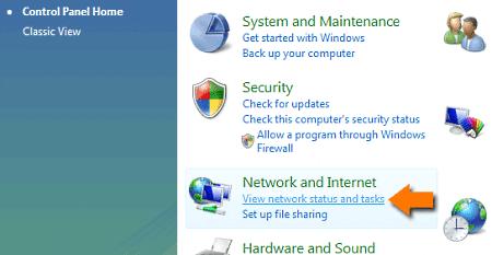 Windows Vista Control Panel