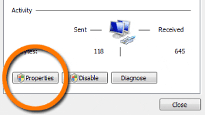 Windows Vista Network Properties