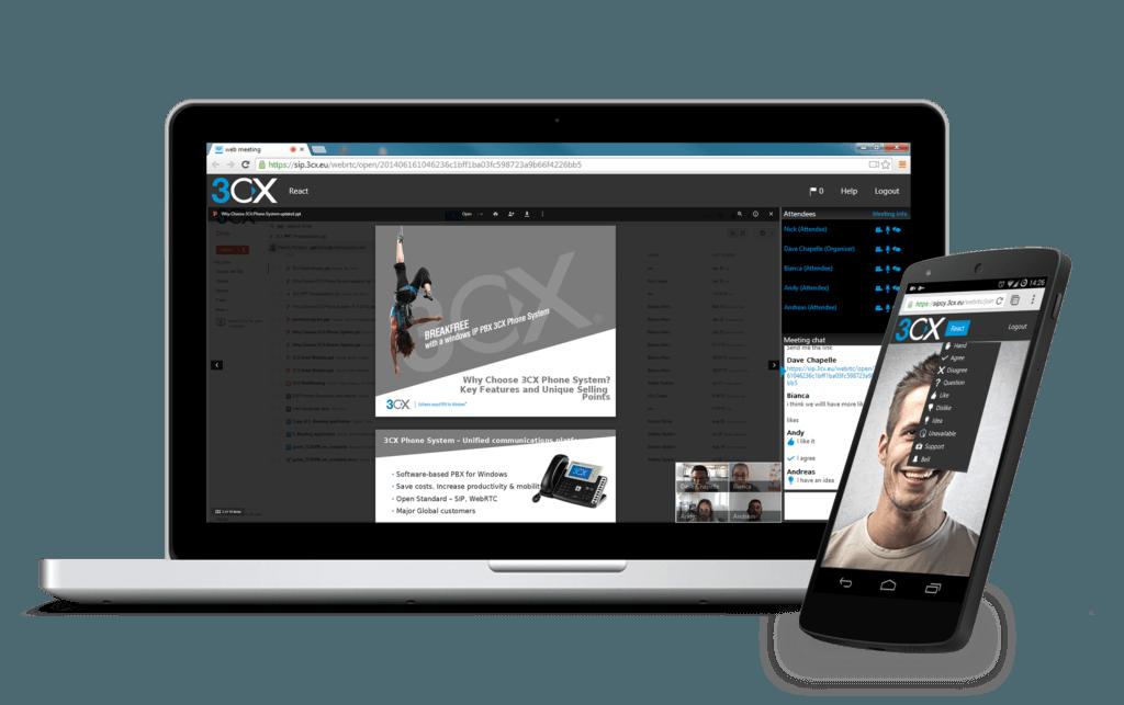 3CX integra nel suo Phone System la soluzione di web-conferencing GRATUITA (News)