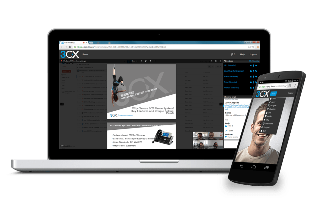 "3CX WebMeeting ora disponibile anche in versione ""on-premise"" (News)"