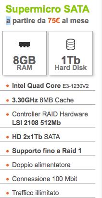 ServerPlan SuperMicro SATA – CPU Intel Quad Core – 8GB RAM / 1 Tb HDD – Setup Gratuito