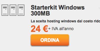 ServerPlan StarterKit Windows (hosting ASP .NET, supporta HTTPS gratuito)