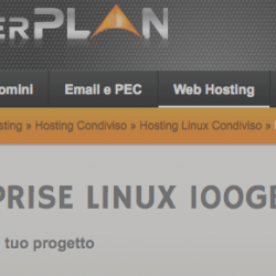 ServerPlan Enterprise Linux 100GB (EasyApp, sottodomini illimitati, HTTPS free incluso)