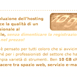 TopWeb – 10 GB da suddividere tra spazio web, e-mail e database MySQL
