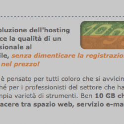 TopWeb – 10 GB di hosting con database MySQL, spazio web, e-mail