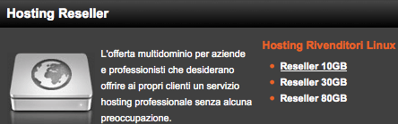 Dettagli offerta: Hosting multidominio ServerPlan 30GB Linux