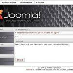 Nuovo bug di sicurezza su Joomla!