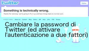Bug di Twitter: sì, è meglio cambiare la password
