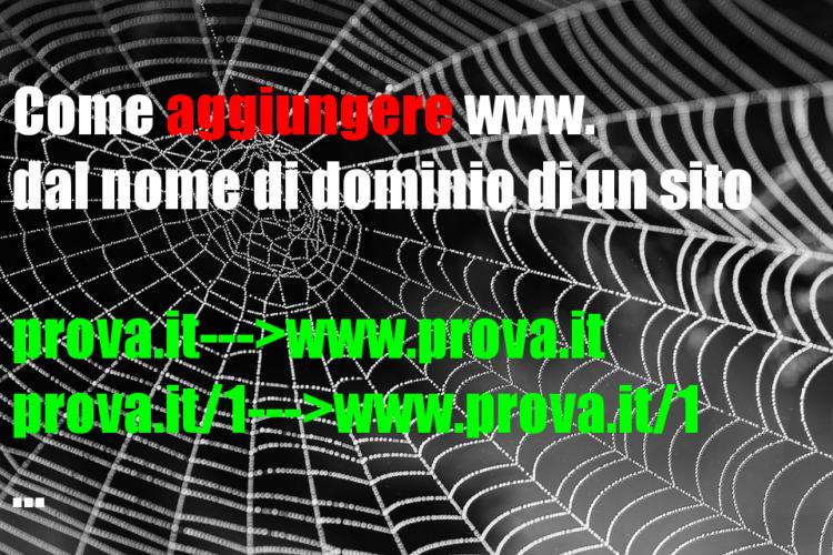 Come aggiungere www. dal nome di dominio di un sito (Guide, Configurazione Hosting, Mondo Domini)