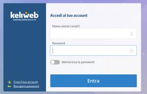 Come si accede al pannello di controllo del mio sito su Keliweb