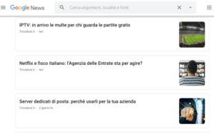 Cos'è Google News, e come entrarci