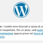 """""""I cookie sono bloccati a causa di un output inaspettato"""", come risolvere"""