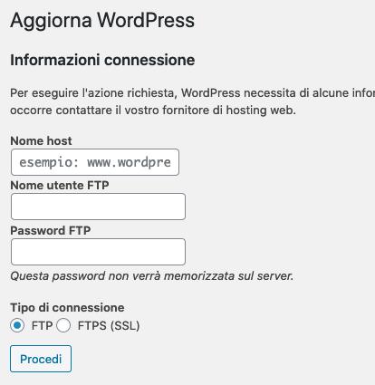 WordPress vuole le credenziali FTP per installare plugin? Come risolvere (Guide, Guide per la configurazione di WordPress)