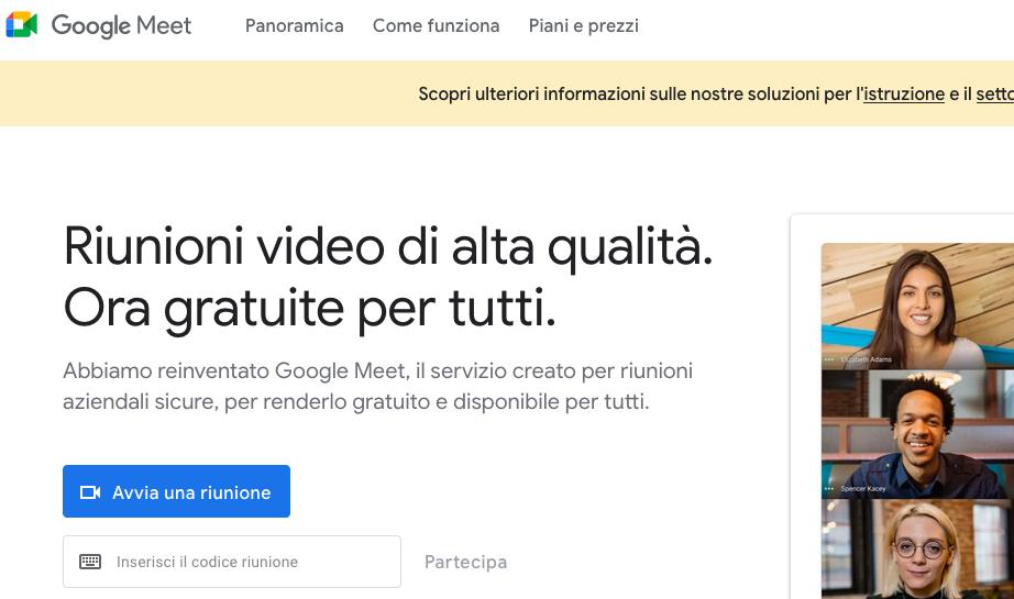 Google Meet: cos'è, come funziona e come fare le videochiamate (Guide, Messaggistica Istantanea)
