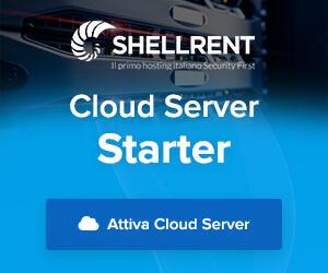 Dettagli offerta: Cloud Server Starter Shellrent